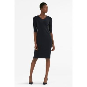 MM Lafleur Mona Dress size 0 Blue Sheath V-Neck